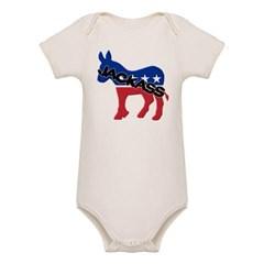 Democratic Party Jackass Symbol Organic Baby Bodysuit