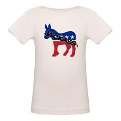 Democratic Party Jackass Symbol Organic Baby Tee