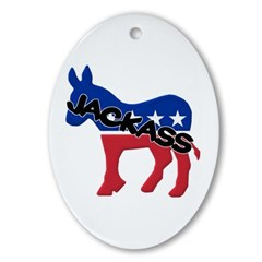 Democratic Party Jackass Symbol Ornament (Oval)