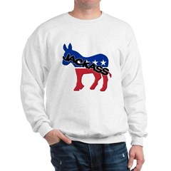 Democratic Party Jackass Symbol Sweatshirt