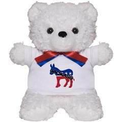 Democratic Party Jackass Symbol Teddy Bear