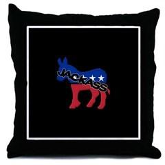 Democratic Party Jackass Symbol Throw Pillow