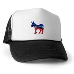 Democratic Party Jackass Symbol Trucker Hat