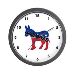 Democratic Party Jackass Symbol Wall Clock