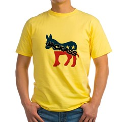 Democratic Party Jackass Symbol Yellow T-Shirt