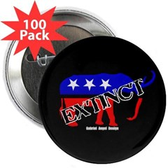 "Extinct Republican 2.25"" Button (100 pack)"