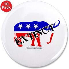 "Extinct Republican 3.5"" Button (10 pack)"