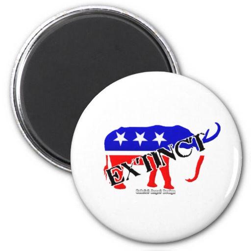 Extinct Republican Magnet