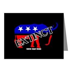 Extinct Republican Note Cards (Pk of 20)