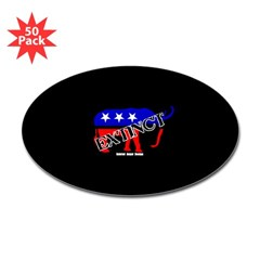 Extinct Republican Oval Decal 50 pack
