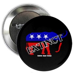 "Extinct Republican Party Symbol 2.25"" Button"