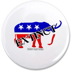 "Extinct Republican Party Symbol 3.5"" Button"