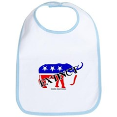 Extinct Republican Party Symbol Baby Bib