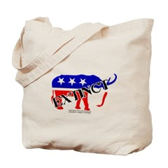 Extinct Republican Party Symbol Canvas Tote Bag