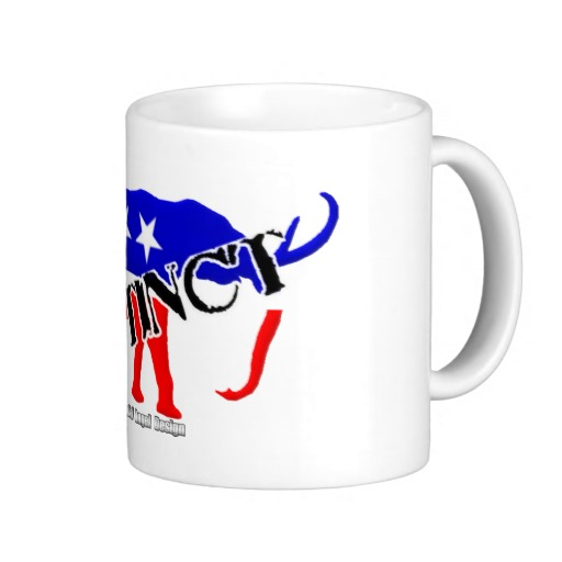 Extinct Republican Party Symbol Classic White Mug