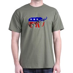 Extinct Republican Party Symbol Dark T-shirt