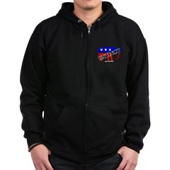 Extinct Republican Party Symbol Dark Zip Hoodie