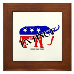 Extinct Republican Party Symbol Framed Tile