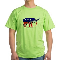 Extinct Republican Party Symbol Green T-Shirt