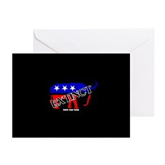 Extinct Republican Party Symbol Greeting Card