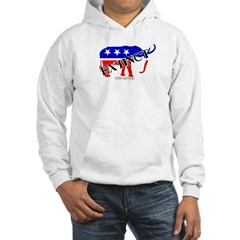 Extinct Republican Party Symbol Hooded Sweatshirt