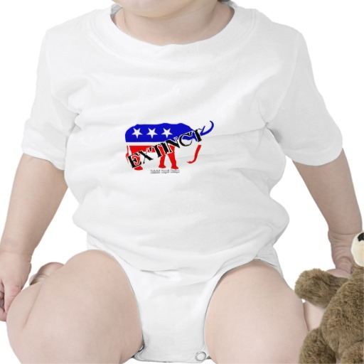 Extinct Republican Party Symbol Infant Creeper