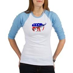 Extinct Republican Party Symbol Junior Raglan T-shirt
