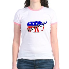 Extinct Republican Party Symbol Junior Ringer T-Shirt
