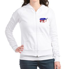 Extinct Republican Party Symbol Junior Zip Hoodie