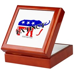Extinct Republican Party Symbol Keepsake Box