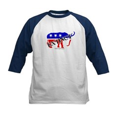 Extinct Republican Party Symbol Kids Baseball Jersey T-Shirt