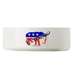Extinct Republican Party Symbol Large Pet Bowl