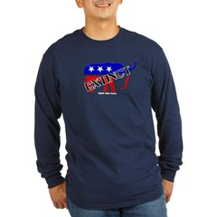 Extinct Republican Party Symbol Long Sleeve Dark T-Shirt