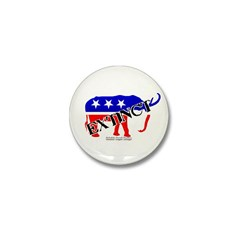 Extinct Republican Party Symbol Mini Button