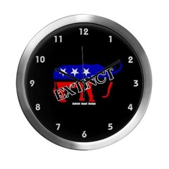 Extinct Republican Party Symbol Modern Wall Clock