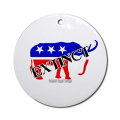 Extinct Republican Party Symbol Ornament (Round)