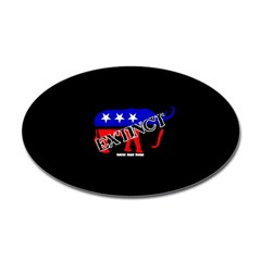 Extinct Republican Party Symbol Oval Decals
