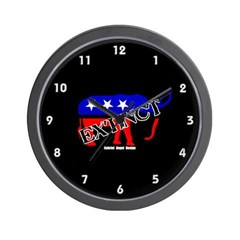 Extinct Republican Party Symbol Wall Clock