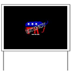 Extinct Republican Party Symbol Yard Sign