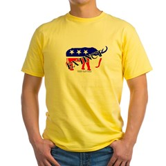 Extinct Republican Party Symbol Yellow T-Shirt