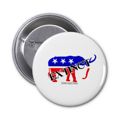 Extinct Republican Pin
