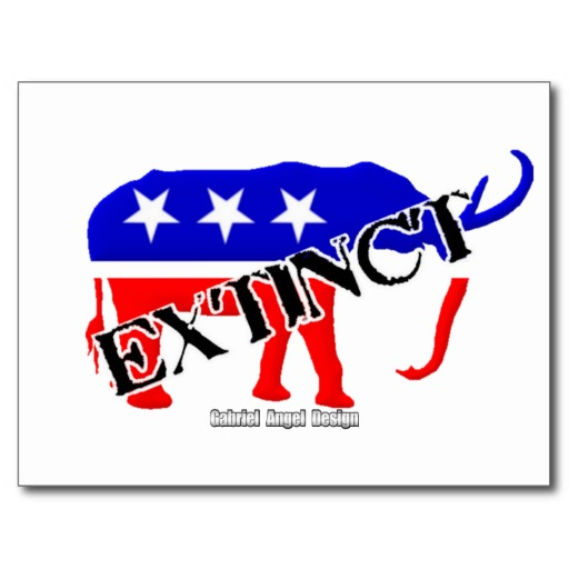 Extinct Republican Postcard