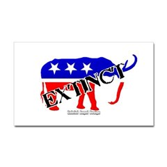 Extinct Republican Rectangle Decal