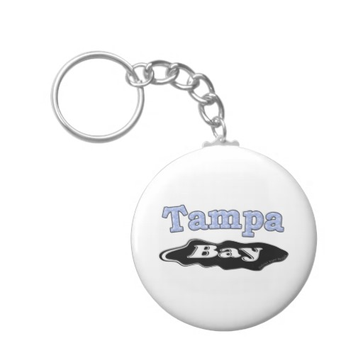 Tampa Bay Oil Spill Basic Button Keychain