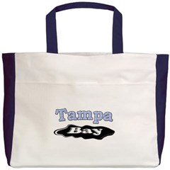 Tampa Bay Oil Spill Beach Tote Bag