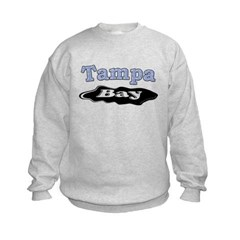 Tampa Bay Oil Spill Kids Crewneck Sweatshirt by Hanes