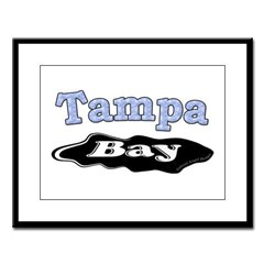 Tampa Bay Oil Spill Large Framed Print