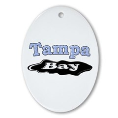 Tampa Bay Oil Spill Ornament (Oval)