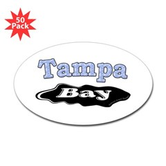 Tampa Bay Oil Spill Oval Decal 50 Pack