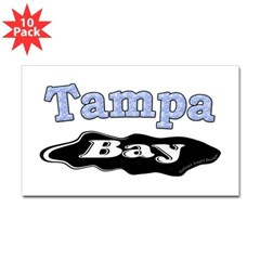Tampa Bay Oil Spill Rectangle Decal 10 Pack